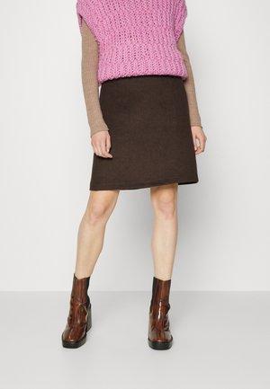 SKIRT - Mini skirt - dark brown