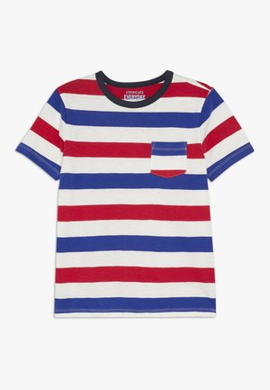 JULY STRIPE TEE - T-shirt con stampa - blue/red