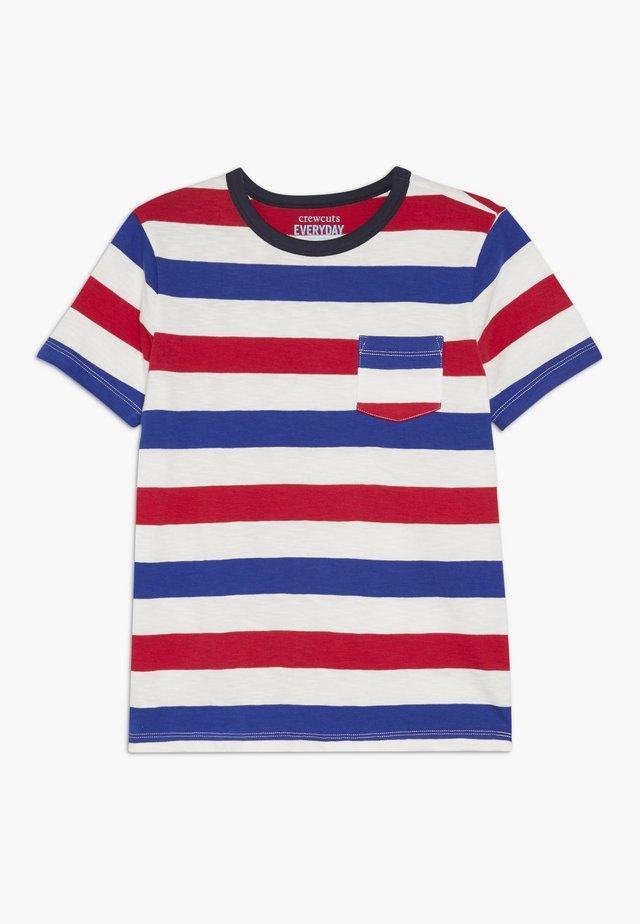 JULY STRIPE TEE - T-shirt imprimé - blue/red