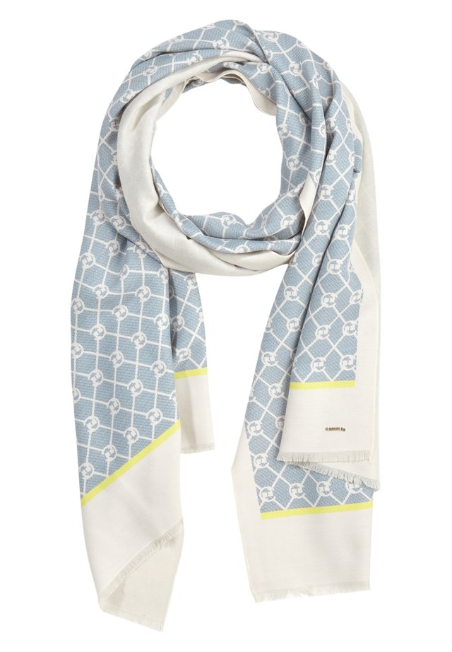 ALLOVERMUSTER - Scarf - champagner contrast logo