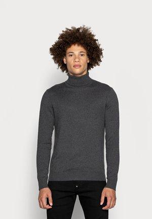 JJEEMIL ROLL NECK  - Pullover - dark grey melange