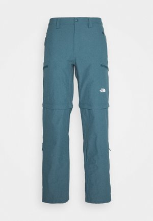 EXPLORATION CONVERTIBLE PANT - Tygbyxor - mallard blue