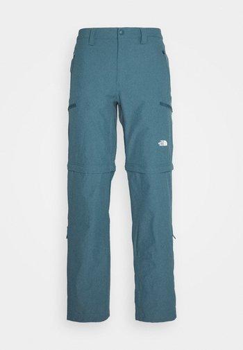 EXPLORATION CONVERTIBLE PANT - Tygbyxor - mallard blue
