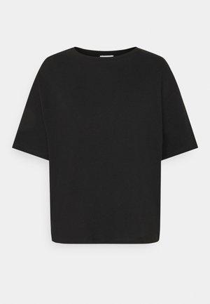 BOXY TEE - Jednoduché triko - black