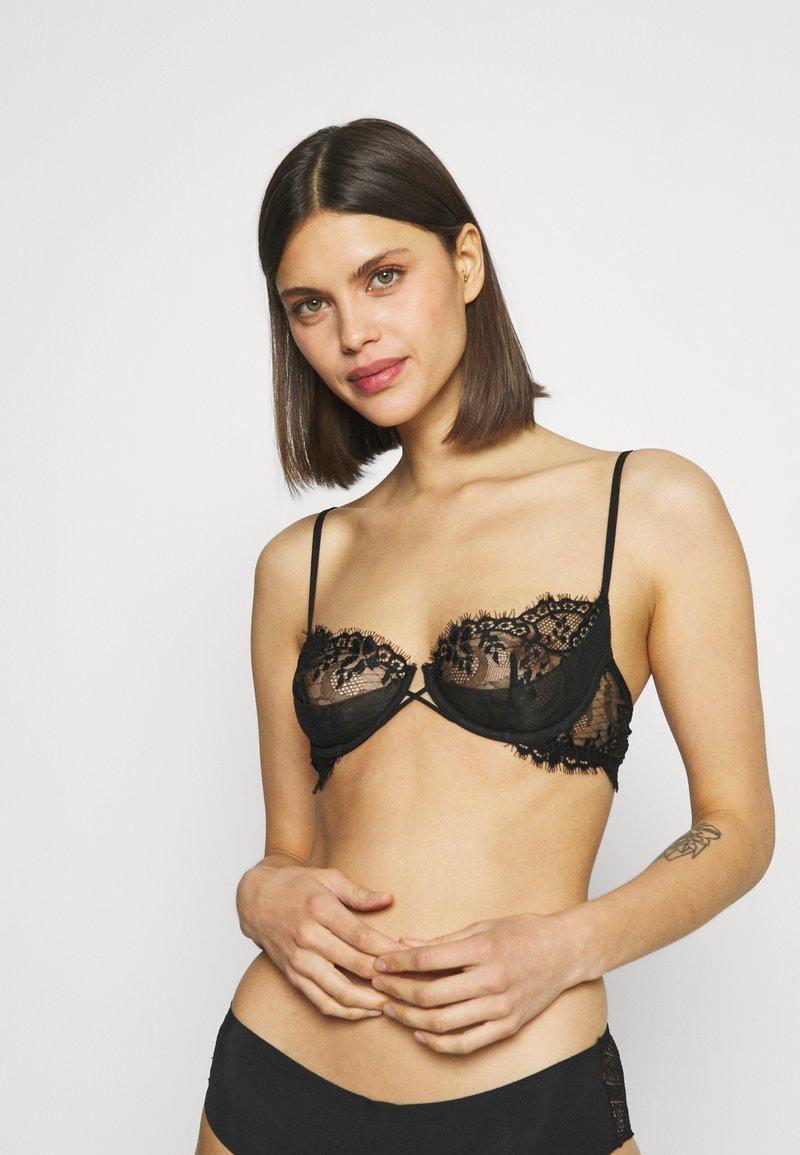 La Perla - EXOTIQUE BALCONETTE NO PADDED WITH WIRE - Balconette bra - black
