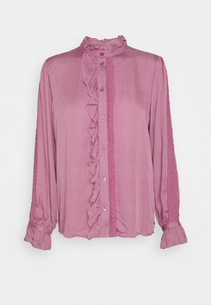 MIMI BLOUSE - Button-down blouse - dirty pink