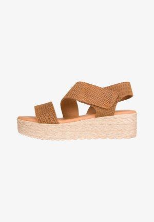 Sandalen met plateauzool - leder