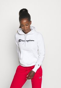 Champion - ESSENTIAL HOODED LEGACY - Jersey con capucha - white - 0