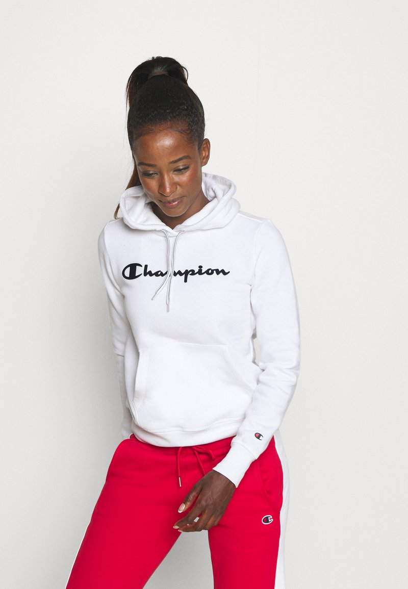 Champion - ESSENTIAL HOODED LEGACY - Jersey con capucha - white