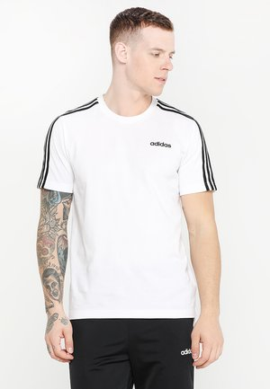 ESSENTIALS SPORTS SHORT SLEEVE TEE - T-Shirt print - white/black