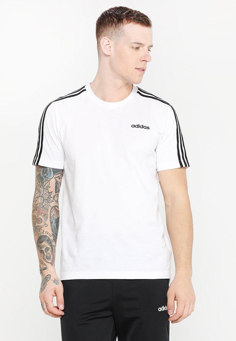 adidas Performance - ESSENTIALS SPORTS SHORT SLEEVE TEE - Print T-shirt - white/black