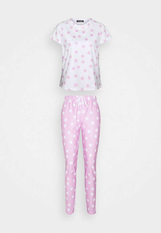 SPOT T-SHIRT WITH LEGGINGS - Pyjama - lilac