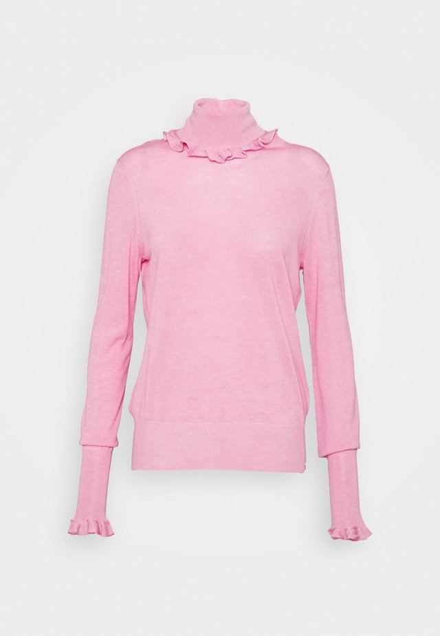 FLUID MELANGE FRILL DETAIL  - Trui - pink