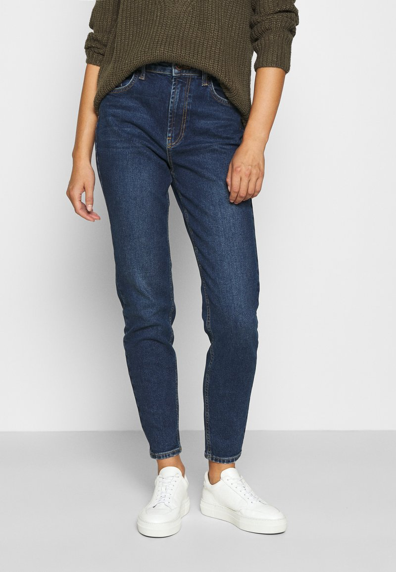 Pieces - PCLEAH MOM  - Jeans relaxed fit - dark blue denim