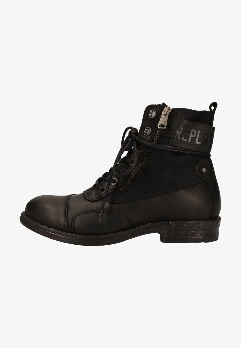 Replay - Lace-up ankle boots - black