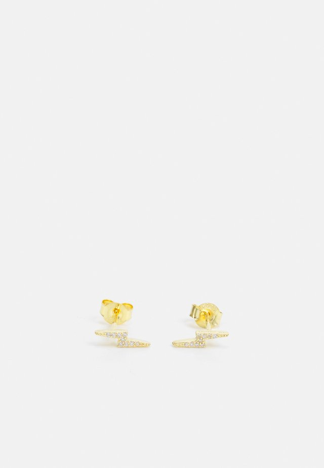 LIGHTNING PAVE STUD - Korvakorut - gold-coloured