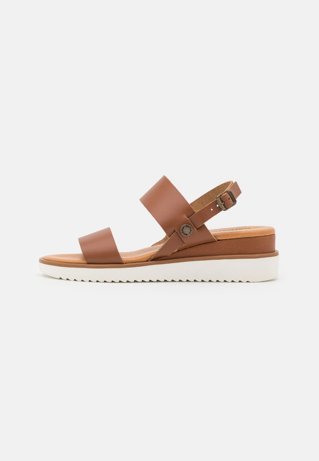 DELILAH - Wedge sandals - dark brown