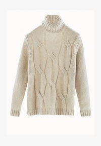 Massimo Dutti - MIT ZOPFMUSTER LIMITED EDITION  - Sweter - beige - 1