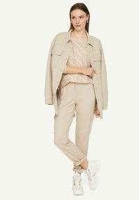 comma casual identity - Long sleeved top - light sand stripes - 1