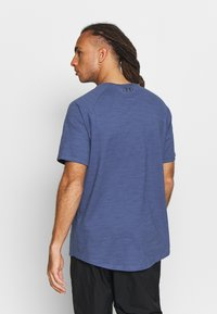 Under Armour - CHARGED COTTON SS - T-shirt basic - blue ink/black - 2