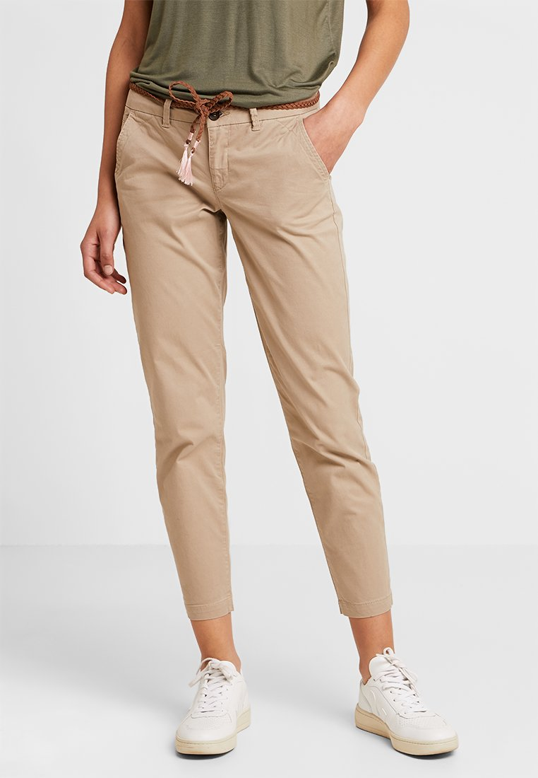 ONLY - ONLEVELYN ANKLE PANT  - Chinos - silver mink