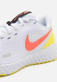 Nike Performance - REVOLUTION 5 - Neutral running shoes - white/bright mango/light voltage yellow/black - 5
