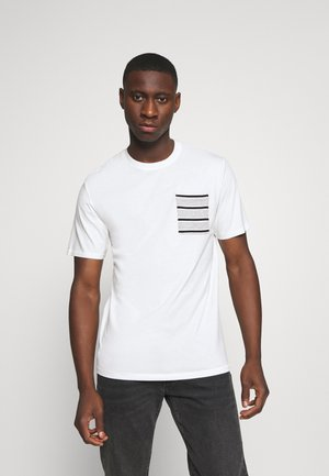 ONSMELTIN LIFE POCKET TEE - Camiseta estampada - cloud dancer