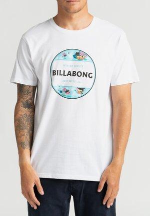 ROTOR FILL  - Print T-shirt - white