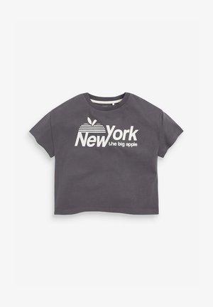 NEW YORK  - Triko spotiskem - grey