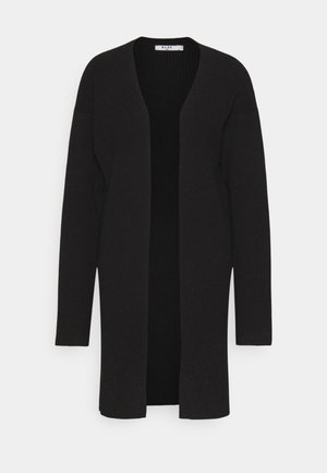 NA-KD X ZALANDO EXCLUSIVE - SOFT RIBBED CARDIGAN - Cardigan - black