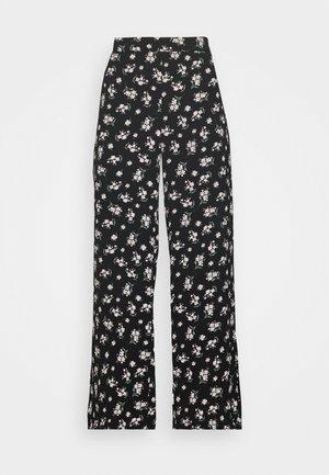 VMSAGA WIDE PANT - Trousers - black/dara