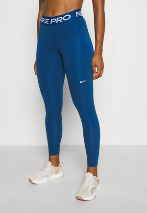 Leggings - court blue/white