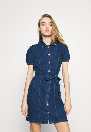 ONLVIBBE BELT DRESS - Dongerikjole - dark blue denim