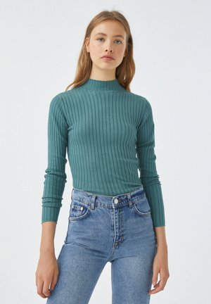 Strickpullover - green