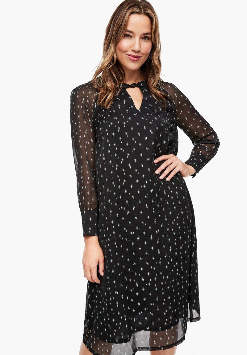 Triangle - Day dress - black aop
