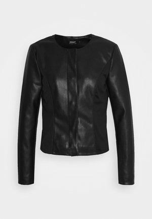 ONLJULIE - Faux leather jacket - black
