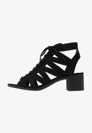 PELICAN - Ankle cuff sandals - black