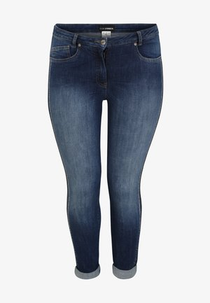 MIT GLITZERSTEINEN - Jeggings - jeansblau