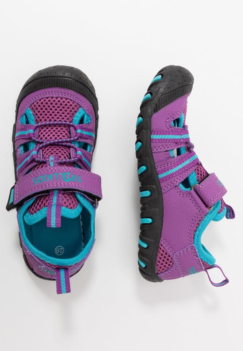 TrollKids - KIDS SANDEFJORD - Walking sandals - fuchsia/turquoise