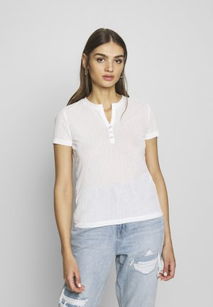 BUTTON TOP - Basic T-shirt - white