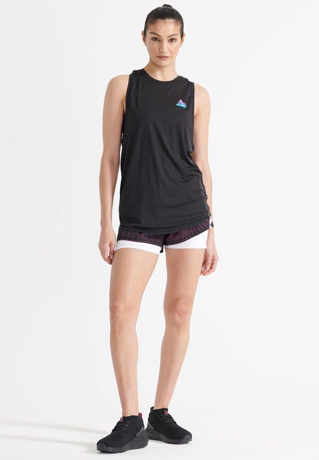 Short de sport - black aop