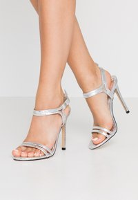 Office Wide Fit - HOTCAKE WIDE FIT - High heeled sandals - silver - 0