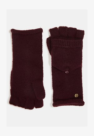 Fingerless gloves - aubergine