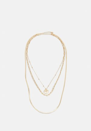 PCLINEA COMBI NECKLACE - Naszyjnik - gold-coloured