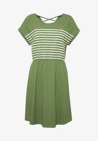 TOM TAILOR DENIM - MINI DRESS WITH STRIPES - Jersey dress - green - 4