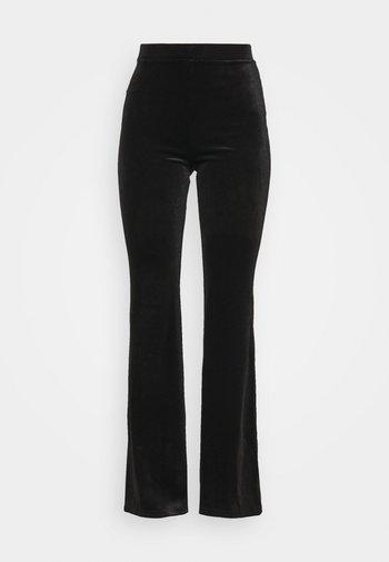 TORA TROUSERS - Spodnie materiałowe - black