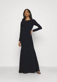 Missguided - OPEN BACK FISHTAIL BRIDESMAID DRESS - Maxi dress - navy - 0