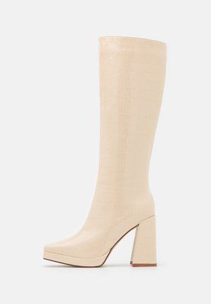 WIDE FIT ROSIE - High heeled boots - off white