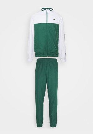 TRACK SUIT - Trainingsanzug - bottle green/white/black