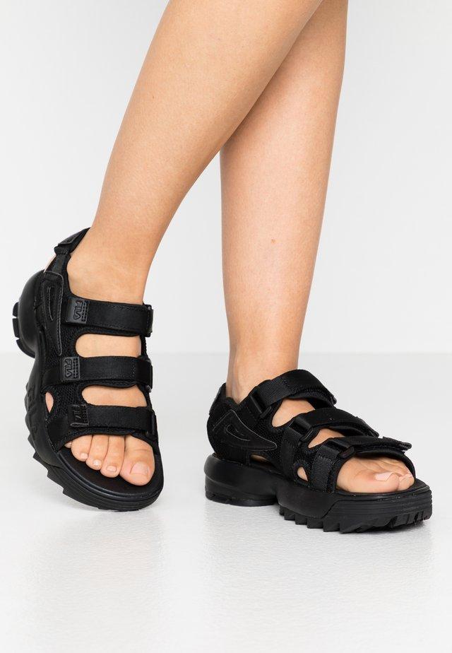 DISRUPTOR - Sandalen met plateauzool - black